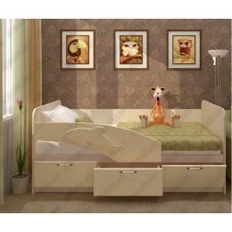 Детская кровать  Дельфин 1,6 ваниль