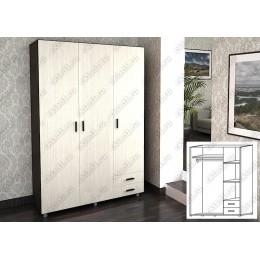 Шкаф 3 створчатый ШК-302 венге-дуб белёный