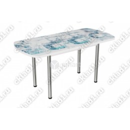 Стол стеклянный раздвижной Кубики льда