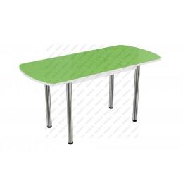 Стол раздвижной пластик Цветы салатовый