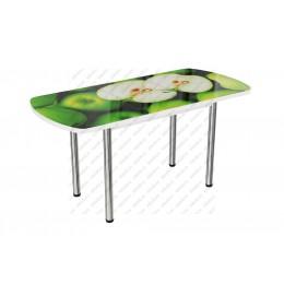 Стол стеклянный раздвижной Яблоко-3