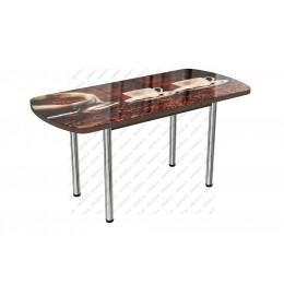 Стол стеклянный раздвижной Кофе-1