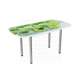 Стол стеклянный раздвижной Лайм-2