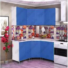 Кухня 1,45м х 1,45м (Синяя)