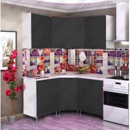 Кухня 1,45м х 1,45м (Черная)