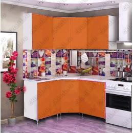 Кухня 1,45м х 1,45м (Оранжевая)